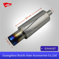 TUNING PRODUCT CHINA HI TITANIUM TI POWER UNIVERSAL EXHAUST MUFFLER FOR HKS