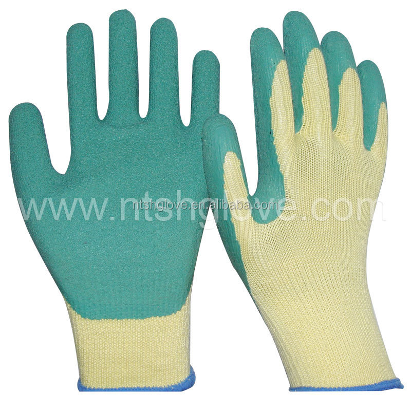 latex coated glove cheap latex glove palm fit gloves