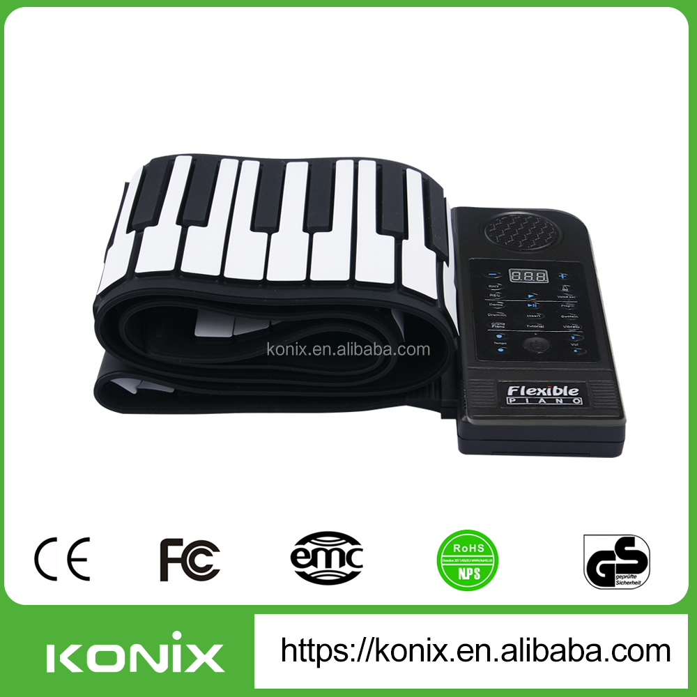used grand piano roland digital piano Christmas gift 88 Keys Roll Up Piano from Konix