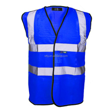 dark blue High visibility Reflective Security Vest with ID pocket