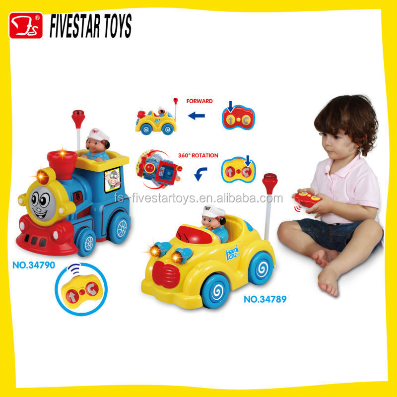 Cheap 2 CH RC cartoon car remote control baby toy car china toy factory