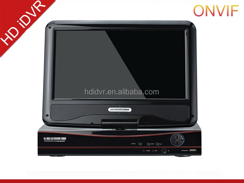 10 Inch LCD DVR support 1ch SD/TF card real time recording portable mini hd cctv dvr