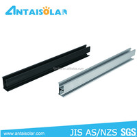 Black Aluminum Extrusion Rails For Solar