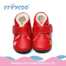 2016 new design breathable leather child baby shoes
