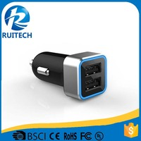 5V 2.1A 2.4A dual USB car charger charging for ipads same time in full speed
