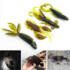 4pcs Ice Soft Sea Fishing Lure Fishing Tackle Jig Wobbler Swivel Rubber Lure Fishing Kit Silicone Bait Protein Soft Worm Shrim