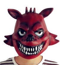 China supply masquerade party costume props wholesale realistic animal head Halloween latex fox Mask for sale