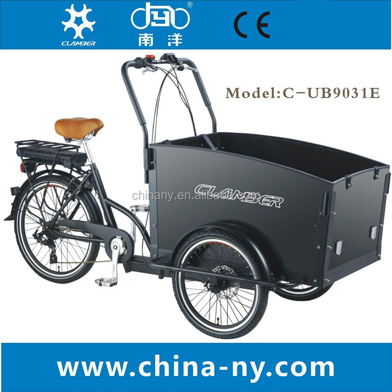 Ningbo / Clamber / OEM Brand china three wheel electric cargo bike