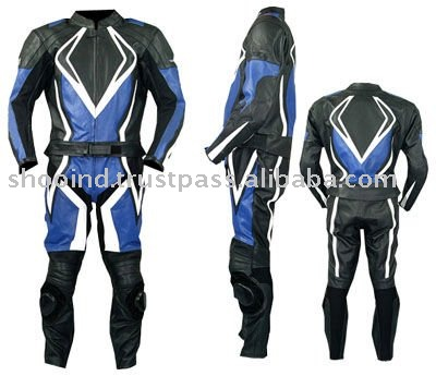 Leather Motorbike Racing Suit,Motorcycle Boys and Gents Track Suit,