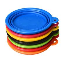 2016 High Quality Eco-friendly Hot Portable Collapsible Dog Bowls dog Feeders Pet Feeding Bowl Silicone Pet Bowl Mat