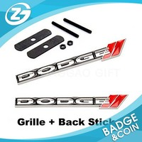 2pcs Sets Front Grille + Back Sticker Car Emblem Badge