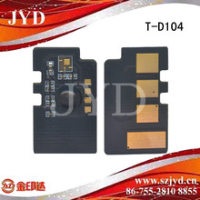 Hot sale laser printer resettable chip for Sam T-D104 toner cartridge chip in alibaba China less than 1 dollar