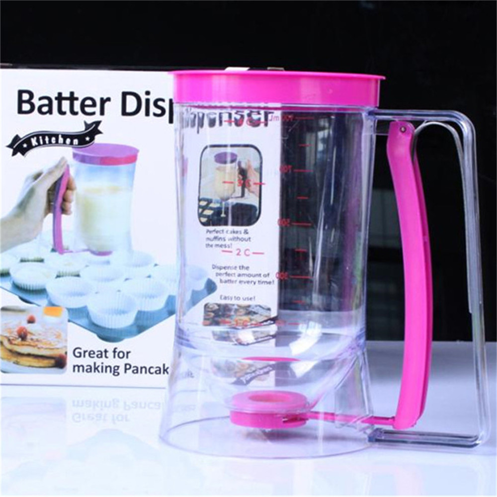 Pancake Batter Dispenser Kitchen Easy Pour Home Kitchen Gadgets Baking of Cupcakes, Waffles, Cakes, Muffin Mix, Crepes, Donuts o