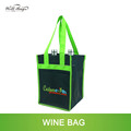 hot selling silk screen customized logo design 4 bottle non woven wine bag