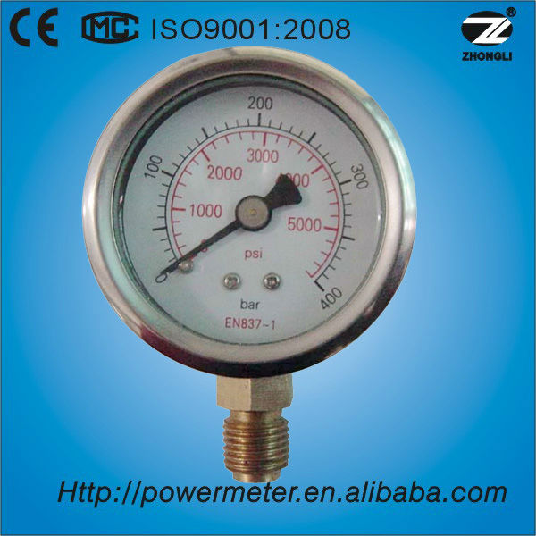 (Y-60) 60mm air pressure meter manometer for oil and gas