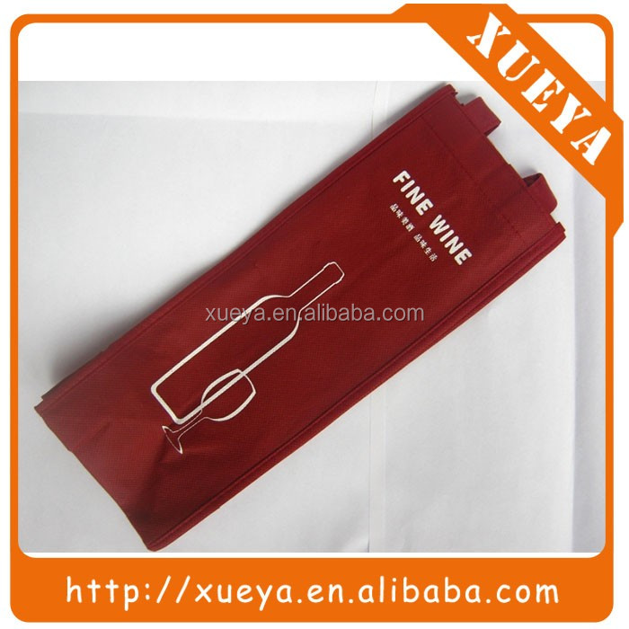 silk screen printing non woven wine bottle packaging bag