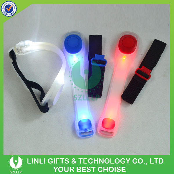 Custom Logo LED Flashlight Arm Band,Waterproof Elastic LED ArmBand,Leg Clip Safety Led Light