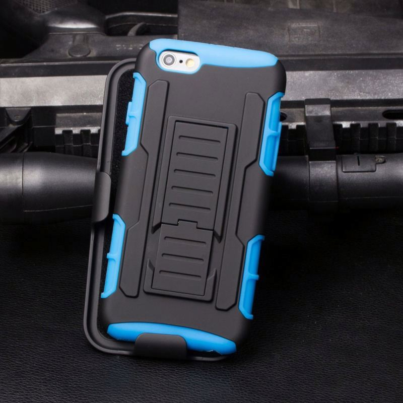 Rocket Style 2015 Hard Robot Back Cover Holder Kickstand Case For Iphone 6 Plus 5.5'