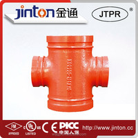 FM UL Certificated Threaded Reducing Cross tee