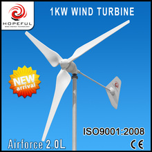 New type Airfore 2.0L 1kw ac wind generators 48v single tail make in China