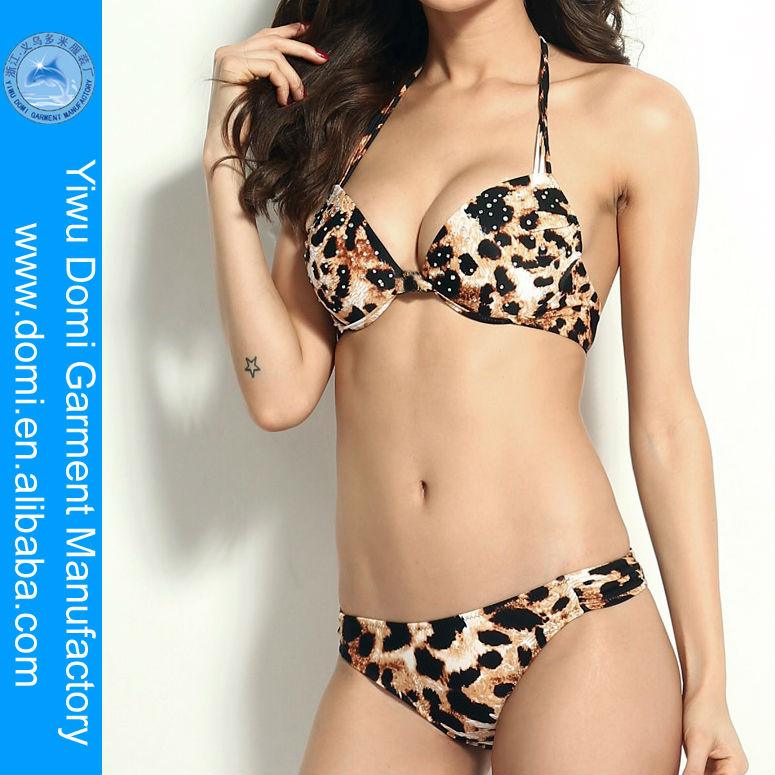 Two Piece Leopard Printed Hot Sexy Women In Bathing Suits Quick Dry Travel Underwear Photo Sex Animal And Women For Bikini