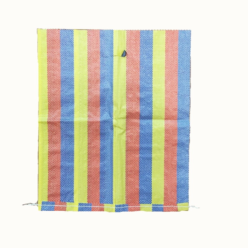 Factory Price OEM Multi-color laminated shopping pp woven bags, raffia sack punching handles export to South America /Africa