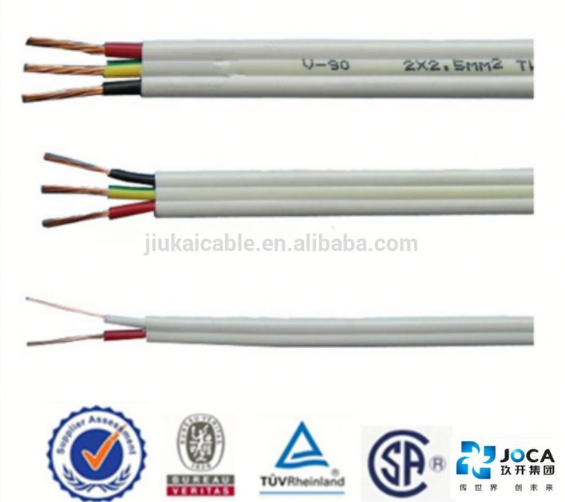 Manuafacturer price awm 20624 80c 60v vw-1 ffc for AUS/NZ Mark flat TPS cable tough plastic sheathed cable flat electrical cable