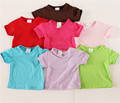 Custom Model Fashion Soft Cotton Cloth Pure Color O-neck Children's T Shirt