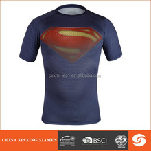 Wholesale 2015 hot sale super man T shirt with sublimated printed