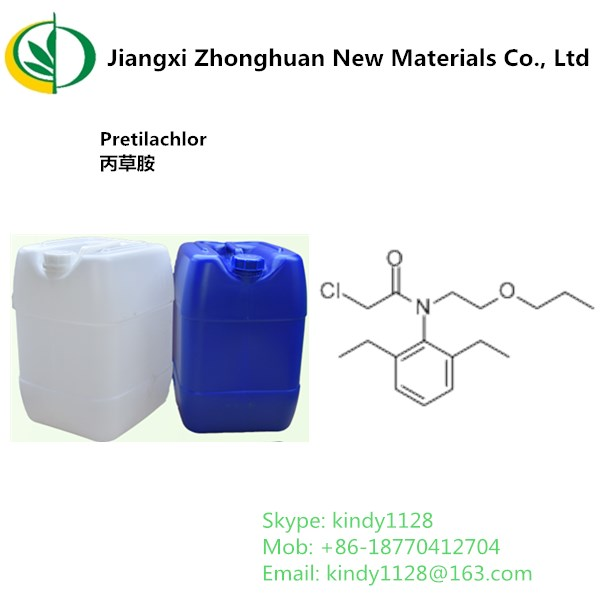 High Selectivity Agriculture Herbicide Pretilachlor with 96%TC 15% EW wholesale for weed killer