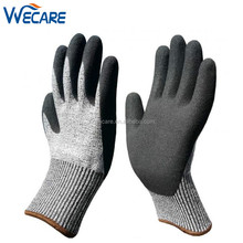 Nitrile Coating Grip Level 5 Protection Knife Glass Woodworking Sharp Objects Handling Cut Resistant Safety Gloves