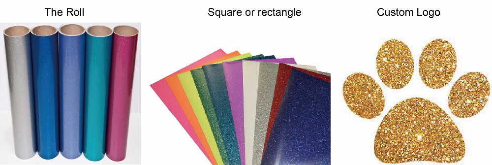 Glitter TPU heat transfer vinyl for T shirt and other fabric