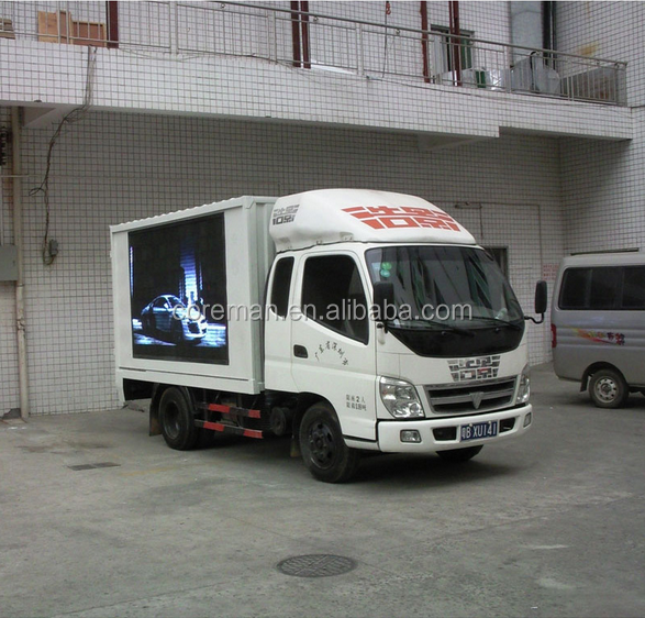 advertising board truck led display/ hd trailer vehicle led display ph7.62mm/8mm/10mm/16mm/20mm