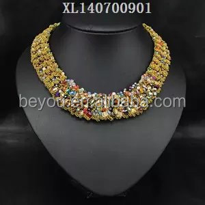 Best & large zinc alloy rhinestone necklace