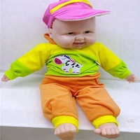 2018 Hot sale laugh music newborn infants baby large size 49cm colorful clothes reborn silicone vinyl doll for baby gift toys