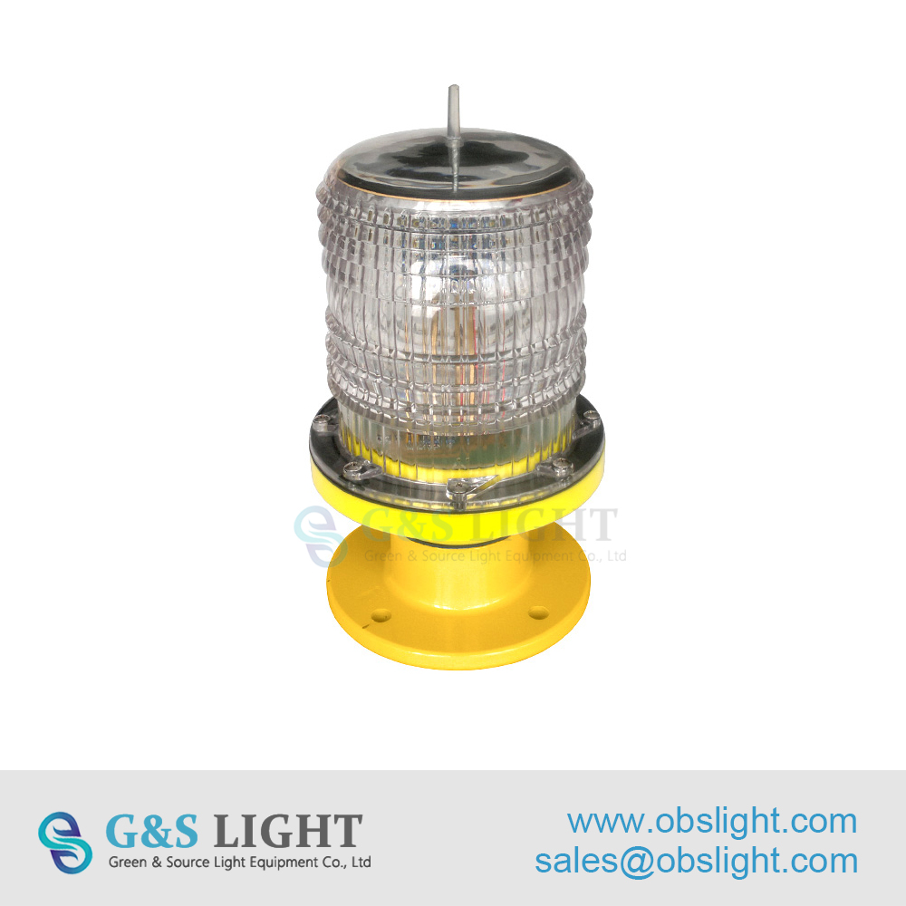 High Technology Solar-Powered LED Aviation Obstruction Light/Aircraft Warning Lights