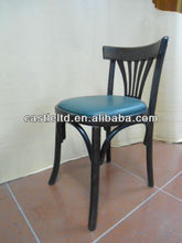 Antique Bentwood chair with upholstered leather seat cushion, wedding chairs and wedding table engaged couples