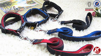Fashion wholesale decorative weaving jean dog belt collar and leash led