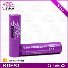 Wholesale battery case KDEST lithium battery 18650 2600mah 40A current high quality lifepo4 battery
