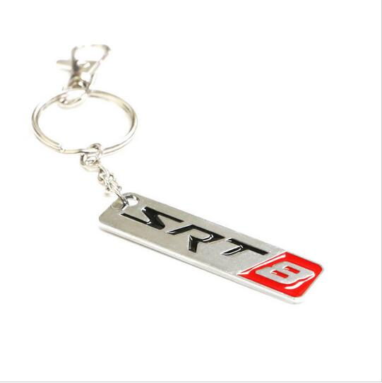 Chrome Finish SRT 8 Key Chain Fob Ring Keychain For Chrysler Dodge Jeep