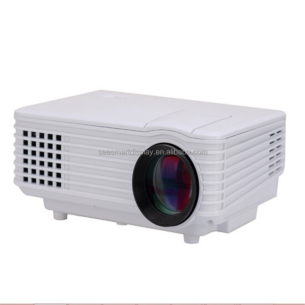 Portable Mini Projector RD805 LED Projector 800x600 Resolution 800 Lumen Black White