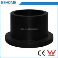 recycled ISO4427 stub flange butt welding hdpe pipe fittings