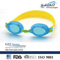 CE Certificated Junior/Kid Children Cartoon Color Design Swimming Goggles
