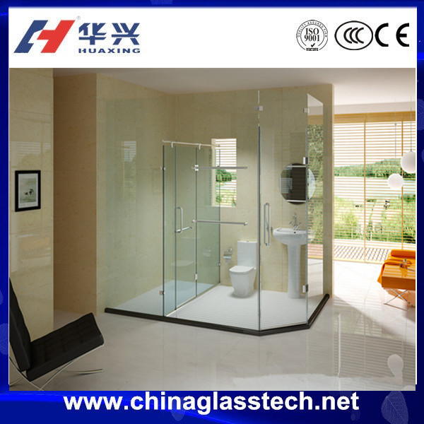 Australia standard Size customized folding silver color aluminum alloy profile tempered frosted frameless glass shower door