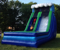 amusement park inflatable giant slide, used outdoor playground equipment for sale