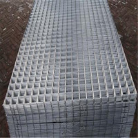 "2 Pack Welded Wire Mesh Panels 2.4m x 1.2 (8ft x 4ft) Galvanised steel Grid Sheets 50mm / 2"" Holes - Fencing, Custom Cages"