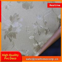 2015 home decor flower pvc contact wall paper