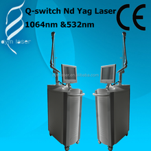 beauty care equipment laser tattoo removal most advanced Q-switched nd yag laser & Electro- Optical laser