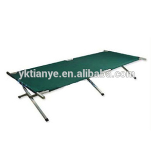 Military folding camping stainless steel bed frame