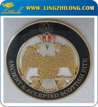 33rd Degree SJ Eagle Gold Round Indoor Wall Emblem- Legion Riders
